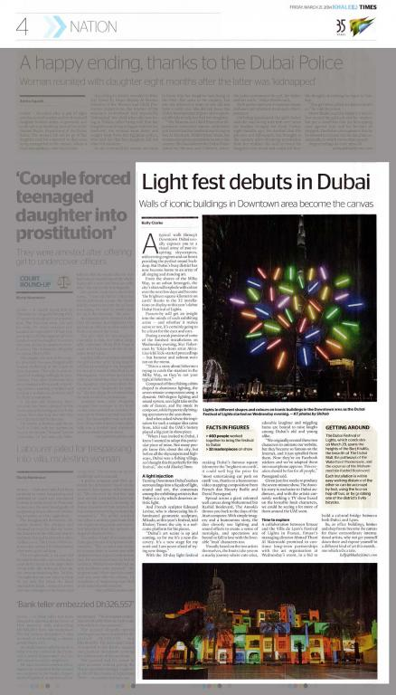 Khaleej Times Light fest debuts in Dubai