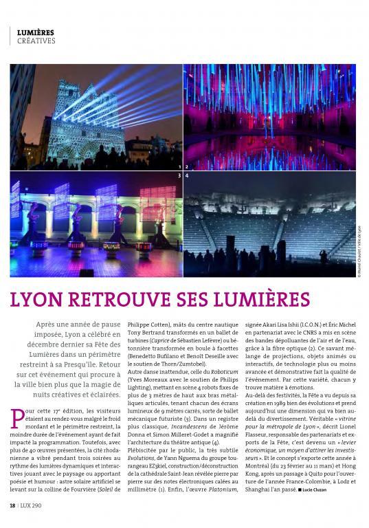 LUX Lyon retrouve ses lumières