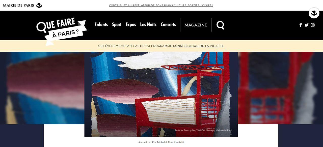 Que faire à Paris NUIT BLANCHE  Eric Michel & Akari-Lisa Ishii,  Cité des sciences et de l'industrie