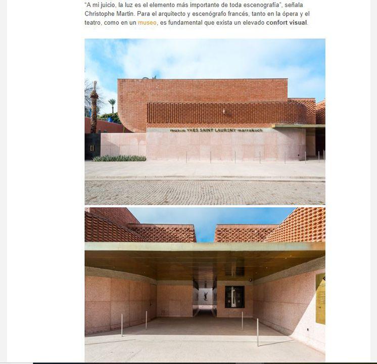 Diario Design La escenografía lumínica en el Museo Yves Saint Laurent.