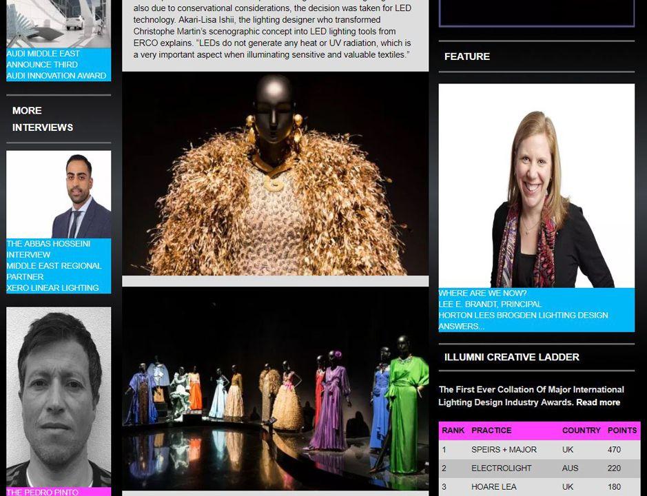 Illumni ERCO LED LIGHTING TOOLS FOR GLAMOROUS EXHIBITION DESIGN: THE YVES SAINT LAURENT MUSEUM IN MARRAKESH