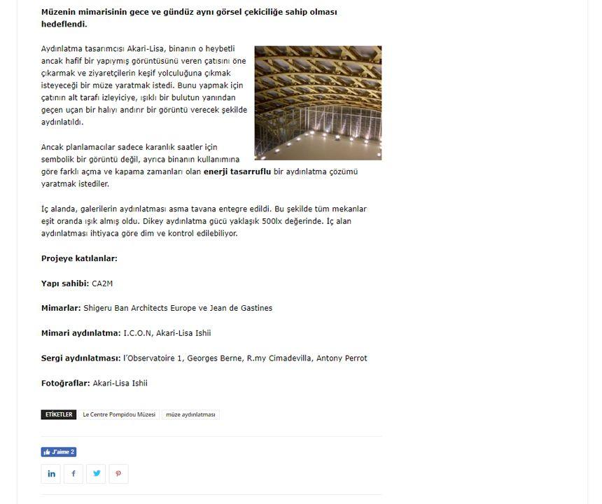 PLD Turkiye Le Centre Pompidou Müzesi, Metz – Fransa