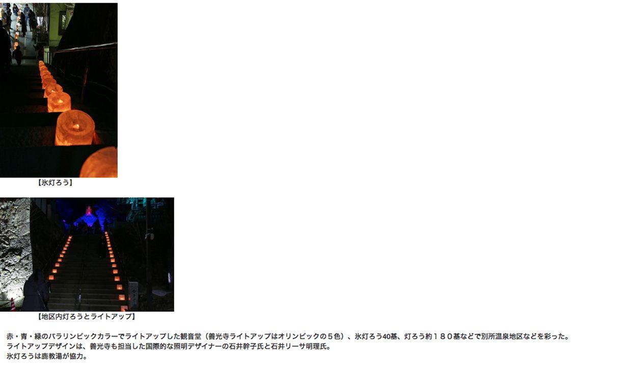 信州FMモバイル Shinshu FM Mobile 台風19号災害復興とオリンピック・パラリンピックを盛り上げようと「上田氷灯ろう夢まつり」を上田市別所温泉の北向観音堂などで行った!