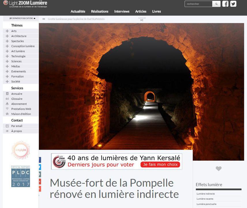 Lightzoom Musée-fort de la Pompelle rénové en lumière indirecte