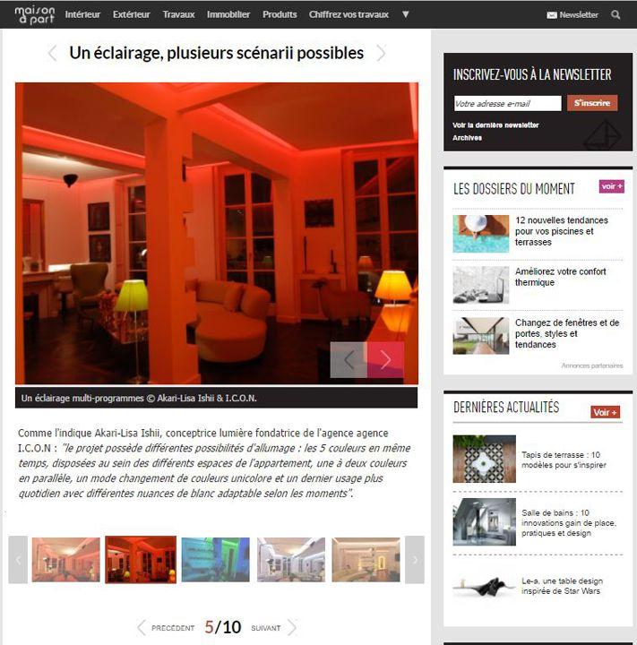 Maison à part Mise en lumière arc-en-ciel pour un appartement parisien