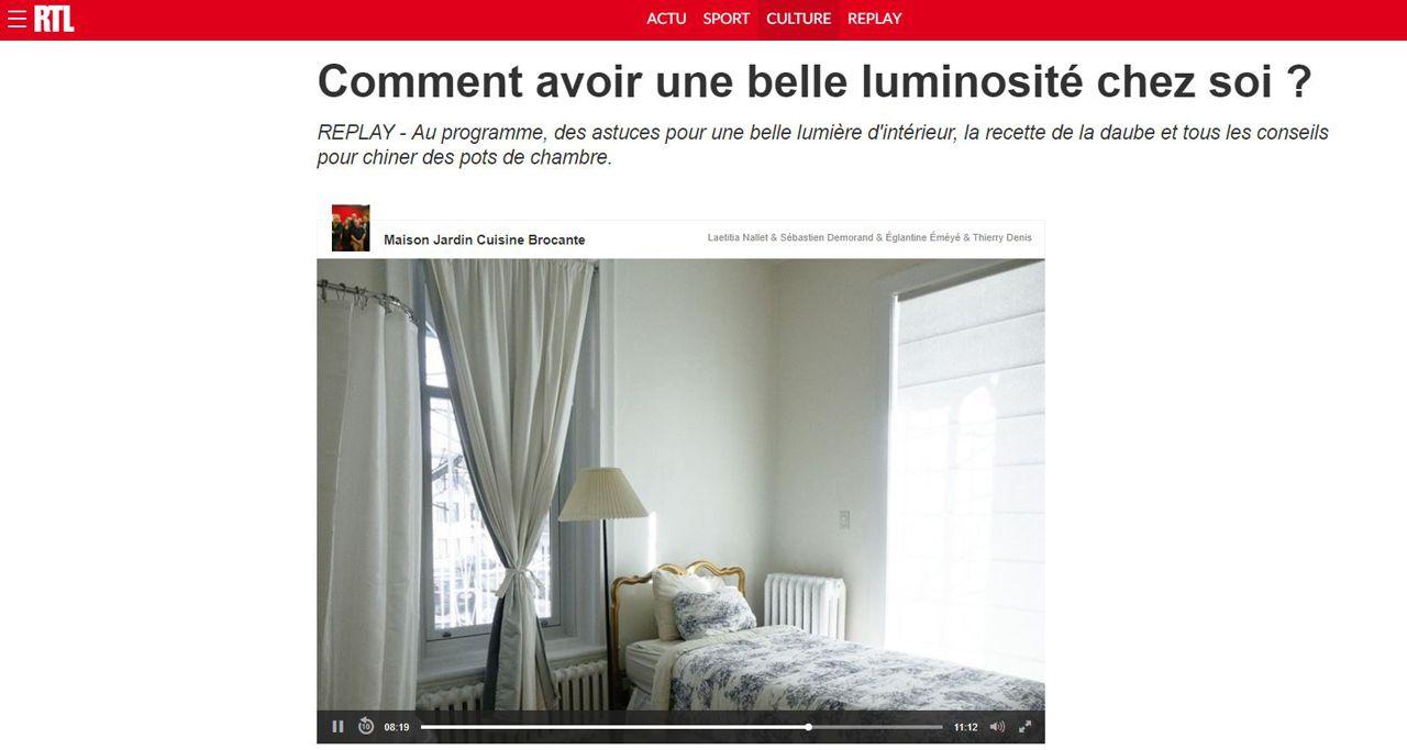 RTL Comment avoir une belle luminosité chez soi ?