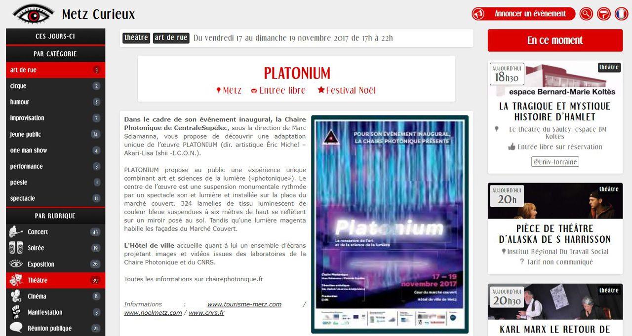 Metz Curieux PLATONIUM