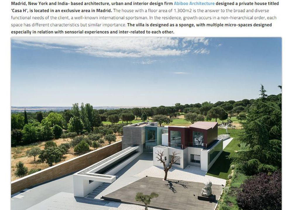 Worldarchitecture Casa H, An Exclusive Private House In Madrid Designed By Abiboo Architecture