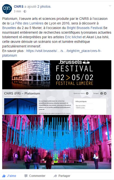Bright Brussels Festival CNRS (FR) - Platonium