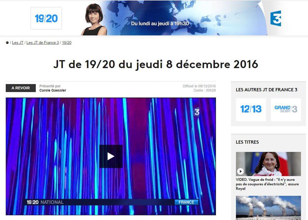 France 3 19/20 Journal National : Fête des Lumières
