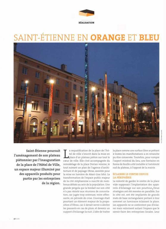 LUX Saint-Etienne en orange et bleu