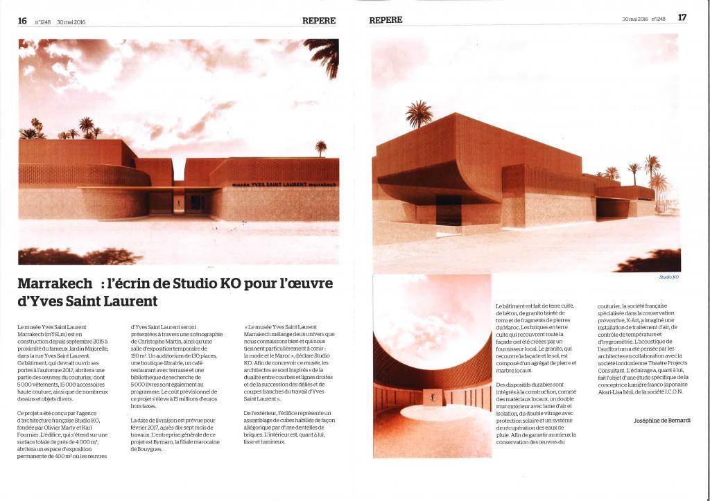 Le moniteur export Marrakech : l'écrin de Studio KO pour l'oeuvre d'Yves Saint Laurent