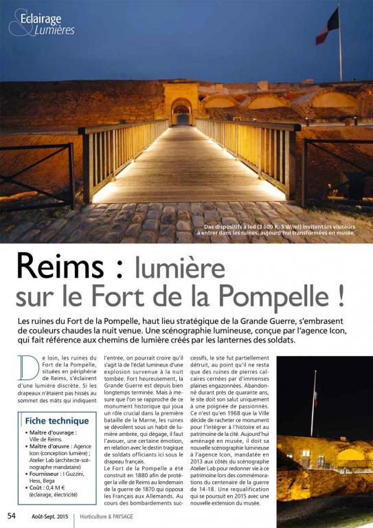 Horticulture et paysage Reims : lumière sur le Fort de la Pompelle !
