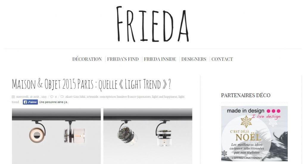 Frieda Maison & Objet 2015 Paris : quelle « Light Trend » ?