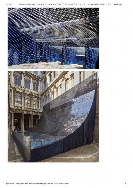 2luxury2 56th Venice Biennale: Shigeru Ban for cle de peau BEAUTE